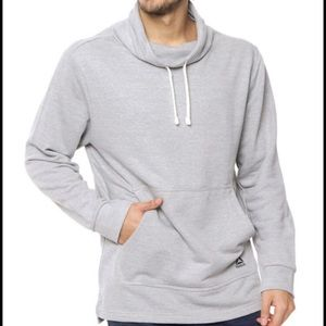 REEBOK heather grey casual sweater shawl-collar